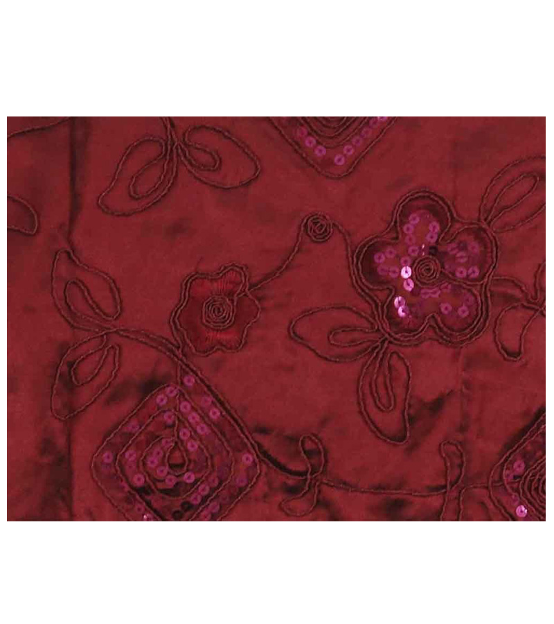 Paillette Embroidery Satin Table Runner