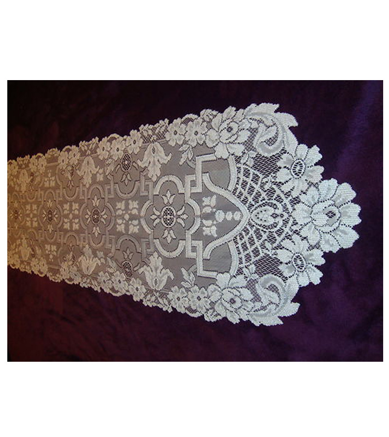White Lace Filigree design table runner