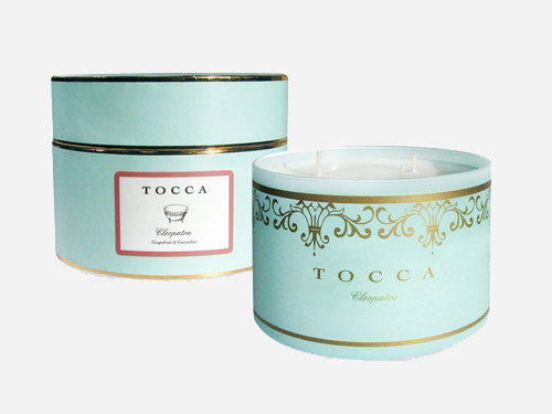 Tocca-Cleopatra Deluxe 3-Wick Candle -Grapefruit Cucumber